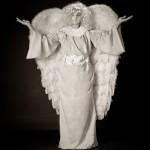 Живые статуи - ангелы, цветы, статуи