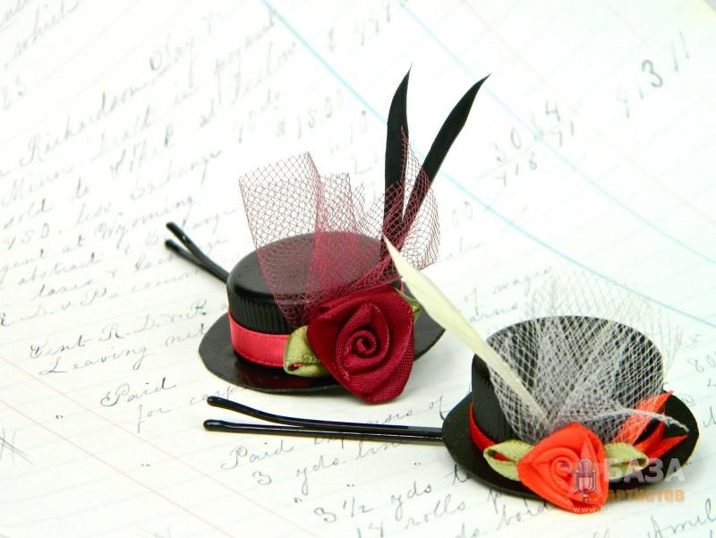 Заколки-шляпки своими руками мастер класс